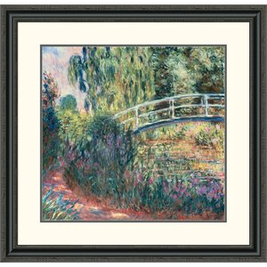 'Le Pont Japonais: Bassin Aux Nympheas' by Claude Monet Framed Painting Print by Global Gallery