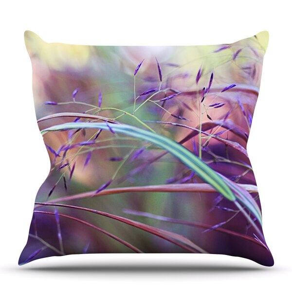 Pretty Grasses by Sylvia Cook Outdoor Throw Pillow by East Urban Home