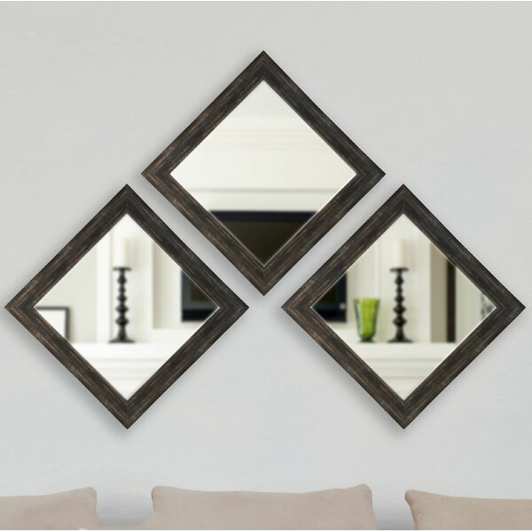 Square Wall Mirror (Set of 3) by Brayden Studio