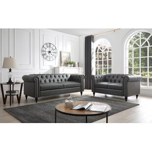 Nala Faux Leather Configurable Living Room Set by Darby Home Co