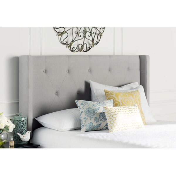 Smyrna Queen Upholstered Wingback Headboard by Three Posts
