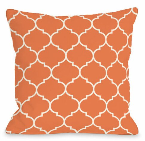 Repeating Moroccan Outdoor Throw Pillow by One Bella Casa