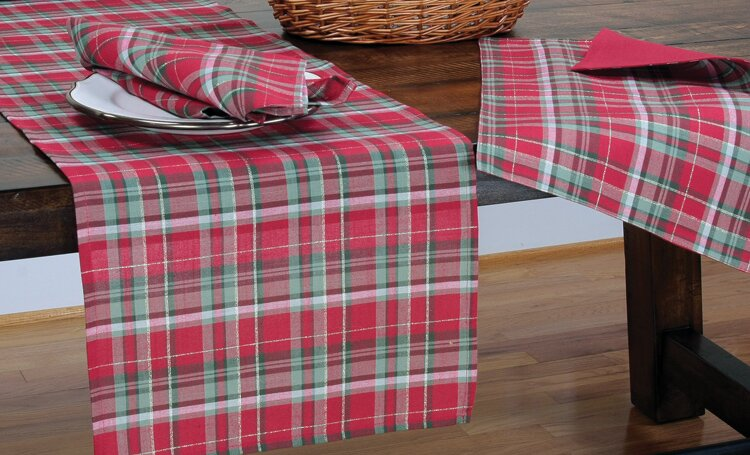 holiday tartan christmas table runner - Christmas Plaid Table Runner