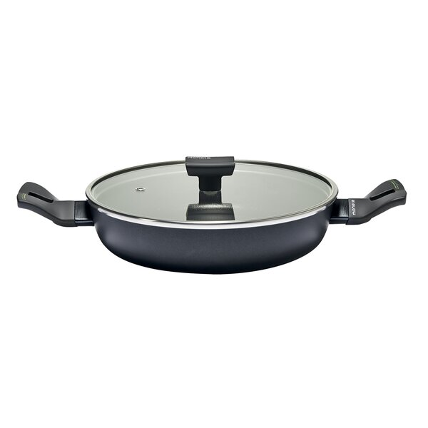 Nova Non-Stick Aluminum Round Sauté Casserole with Lid by Moneta