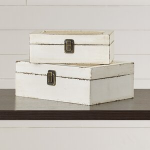 Brittany 2 Piece Decorative Box Set