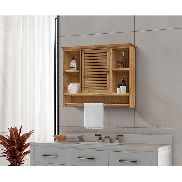 Breena 25.6 W x 21.5 H x 7 D Solid Wood Wall Mounted Bathroom Cabinet
