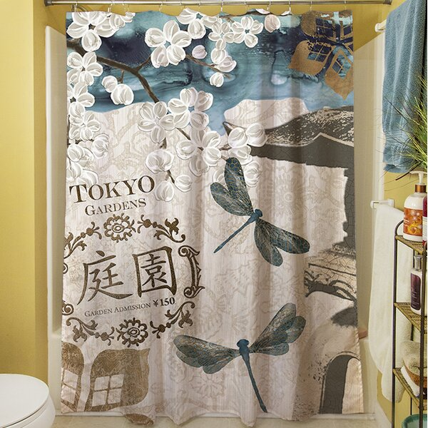 Meditation Gardens I Shower Curtain by Manual Woodworkers & Weavers