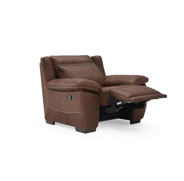 Sandro Leather Power Wall Hugger Recliner by Natuzzi Editions