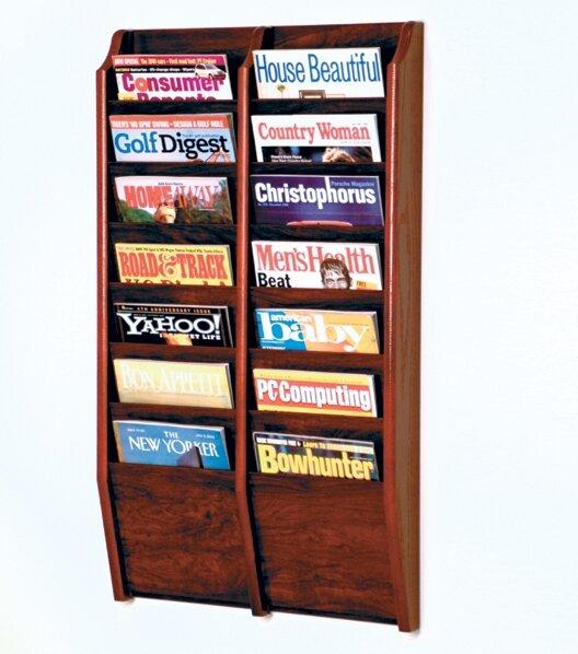 Yanira 14 Pocket Wall Mount Magazine Rack By Red Barrel Studio.