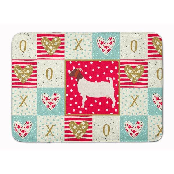 Sonette Boer Goat Love Memory Foam Kitchen Mat