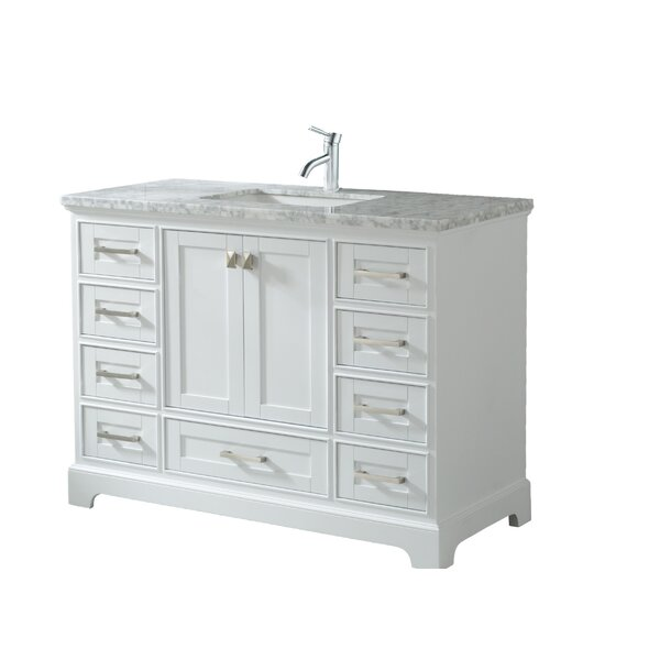 Haxby 48 Wall Mounted Single Bathroom Vanity Set by Highland Dunes