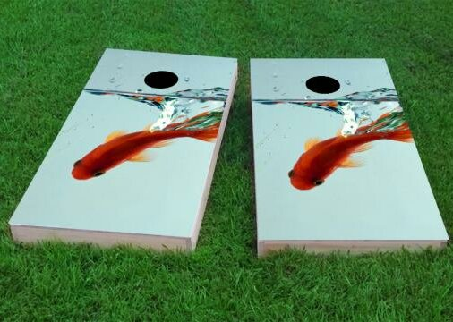 Goldfish in Bowl Cornhole Game (Set of 2) by Custom Cornhole Boards
