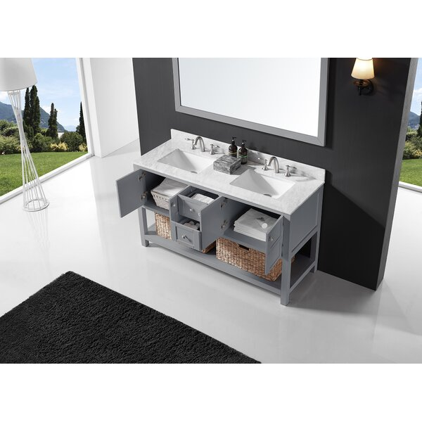 Coe 60 Double Bathroom Vanity Set with Mirror