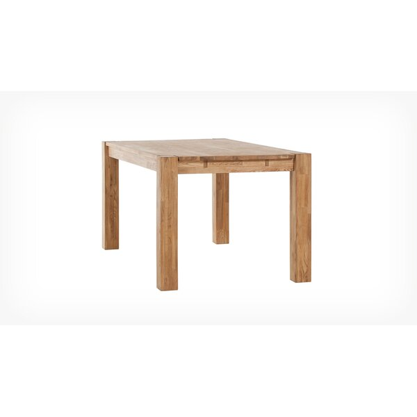 Watauga Solid Wood Dining Table by Highland Dunes