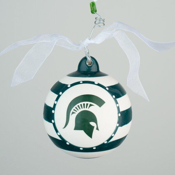 Michigan State Stripe Ball Ornament by Glory Haus
