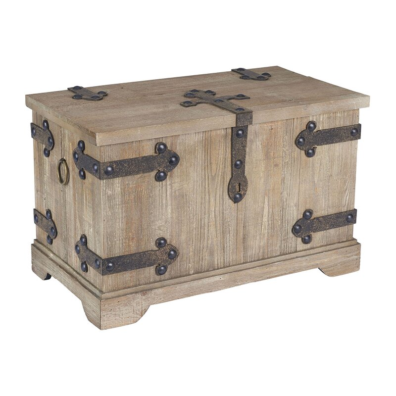 Small Wooden Storage Chest Home Side End Coffee Table Trunk Toy Box Furniture