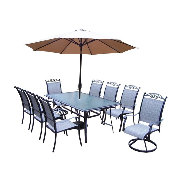 Basile 11 Piece Dining Set by August Grove