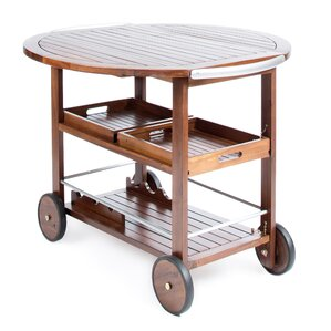 Porsha Wood Bar Cart by Bayou Breeze