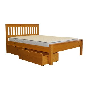 Treva Full Slat Bed with Storage by Harriet Bee