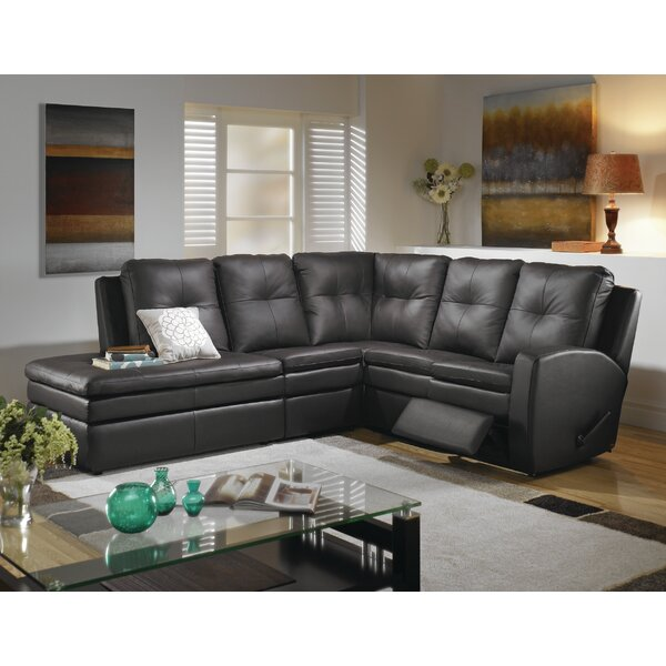 Internet Buy Christopher Right Hand Facing Reclining Sectional by Relaxon by Relaxon
