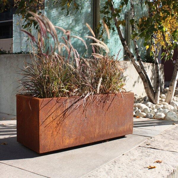 Metallic Series Corten Steel Planter Box by Veradek