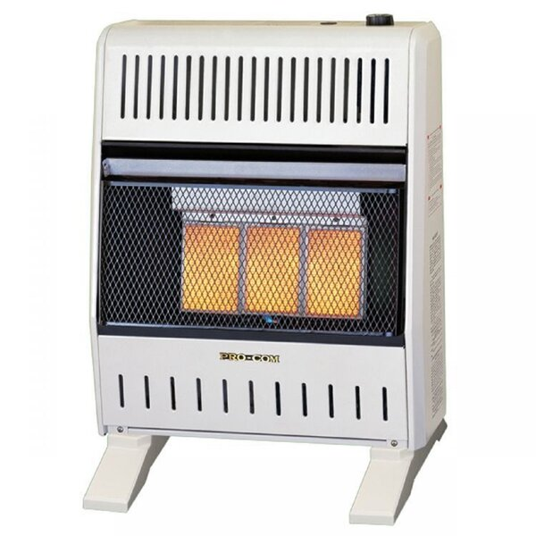 20,000 BTU Natural Gas/Propane Infrared Wall Insert Heater By ProCom