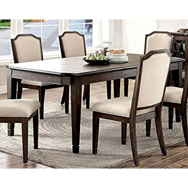 Piscitelli Transitional Solid Wood Dining Table by Charlton Home Charlton Home