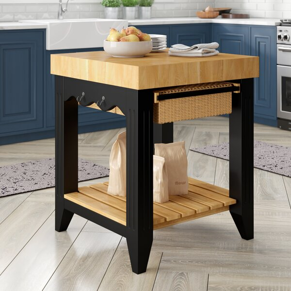 Behling Prep Table with Butcher Block Top by Red Barrel Studio