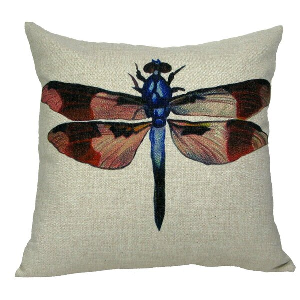 Dragonfly Throw Pillow by Golden Hill Studio