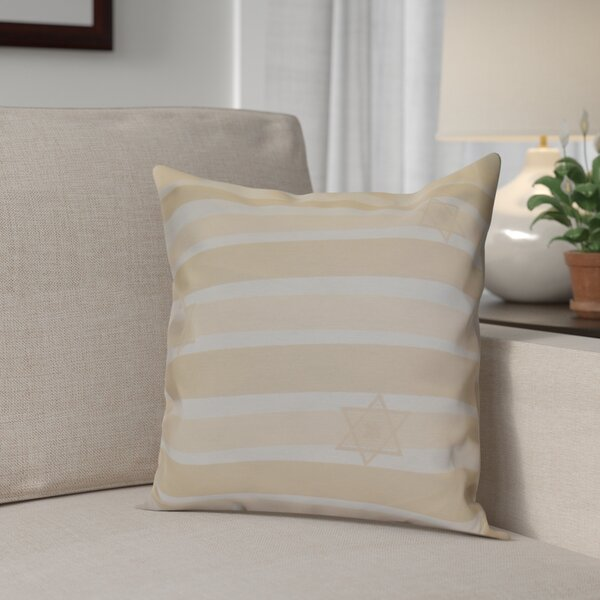 Hanukkah 2016 Decorative Holiday Striped Throw Pillow by The Holiday Aisle