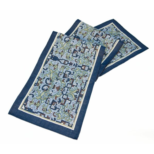Arts and Crafts Asian Ornament Table Runner by Rennie & Rose Design Group