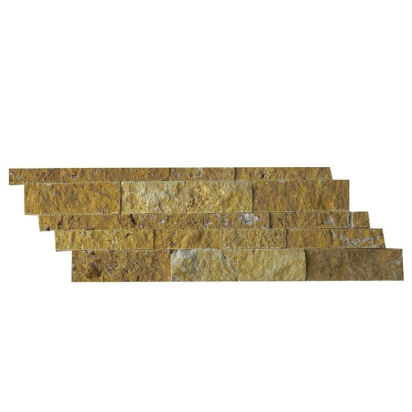 Natural Stone Mosaic Tile in Gold by QDI Surfaces