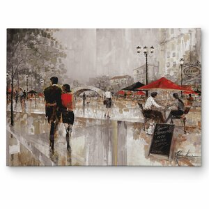 'Riverwalk Charm' by Ruane Manning Painting Print on Wrapped Canvas by Wexford Home