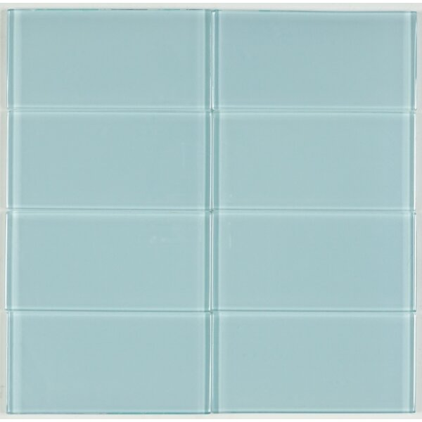 3 x 6 Glass Tile in Green by Multile