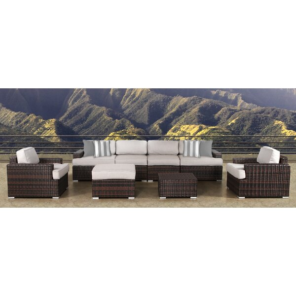 Archie 8 Piece Sectional Set with Cushions by Bayou Breeze