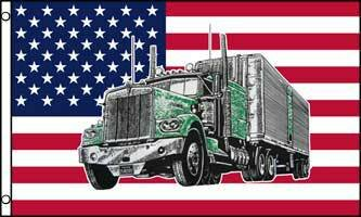 USA Truck Traditional Flag by Flags Importer