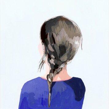 Braid Brunette Canvas Art by Oopsy Daisy