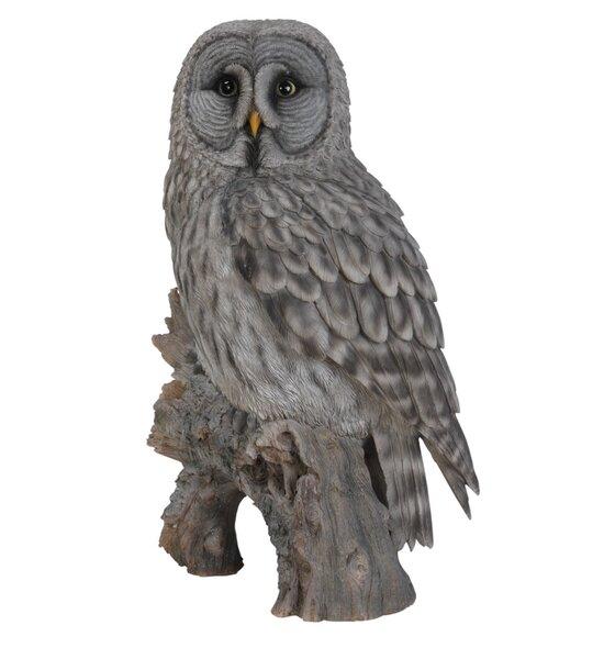 Owl on Stump Statue by Hi-Line Gift Ltd.