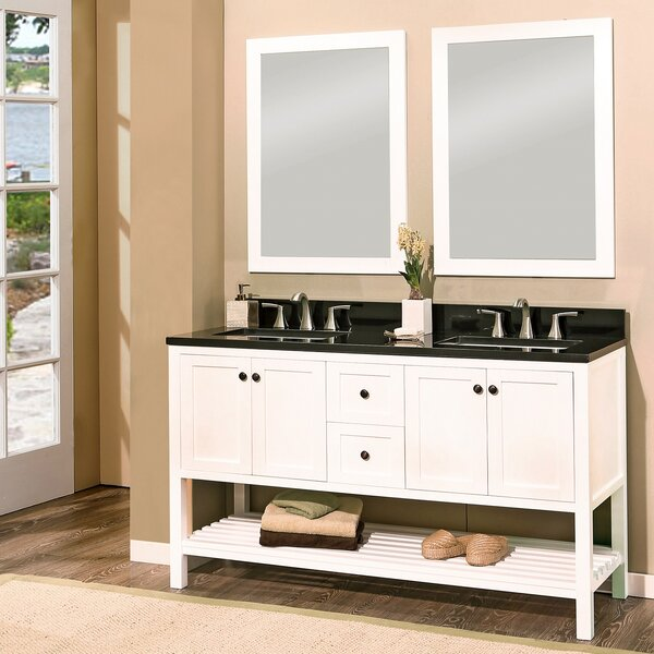 Hampton Bay 60 Double Bathroom Vanity with Mirror by NGY Stone & Cabinet
