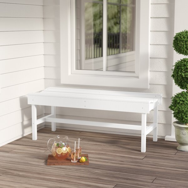 Sawyerville Poly Lumber Picnic Bench By Laurel Foundry Modern Farmhouse