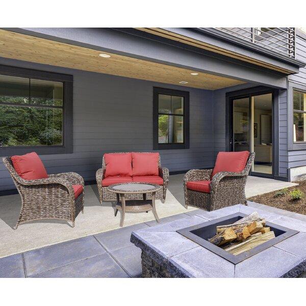 Gaenside 4 Piece Sofa Seating Group with Cushions by Bayou Breeze
