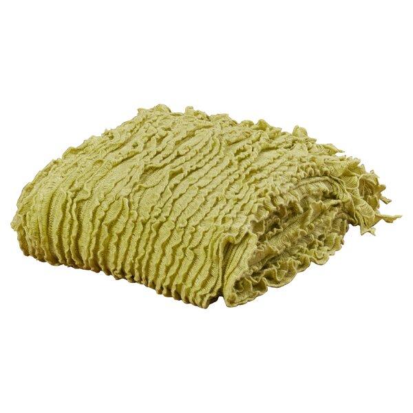 Melisande Ruffled Throw Blanket by August Grove