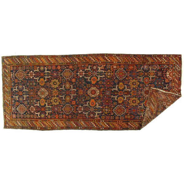 One-of-a-Kind Hamer Hand-Knotted 1910s Yellow/Brown 5'6 x 13'1 Wool Area Rug