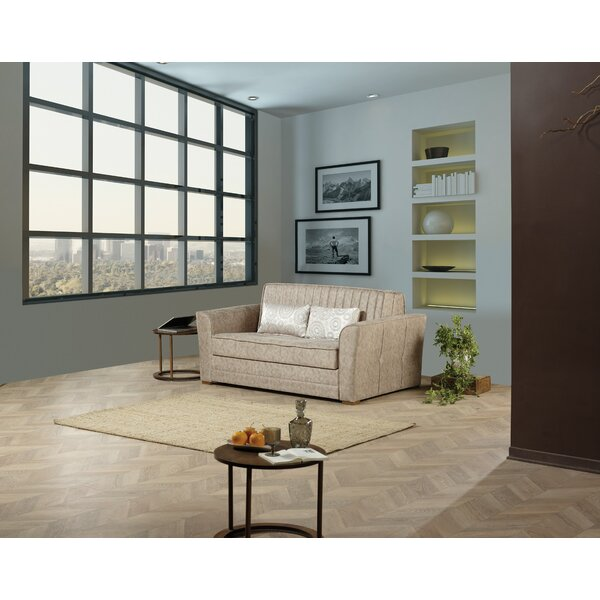 Venizelos Microsuede 74 Inches Flared Arms Sleeper By Brayden Studio