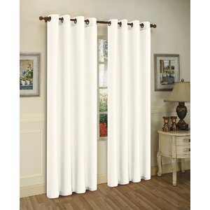 Solid Semi-Sheer Grommet Curtain Panels (Set of 3)