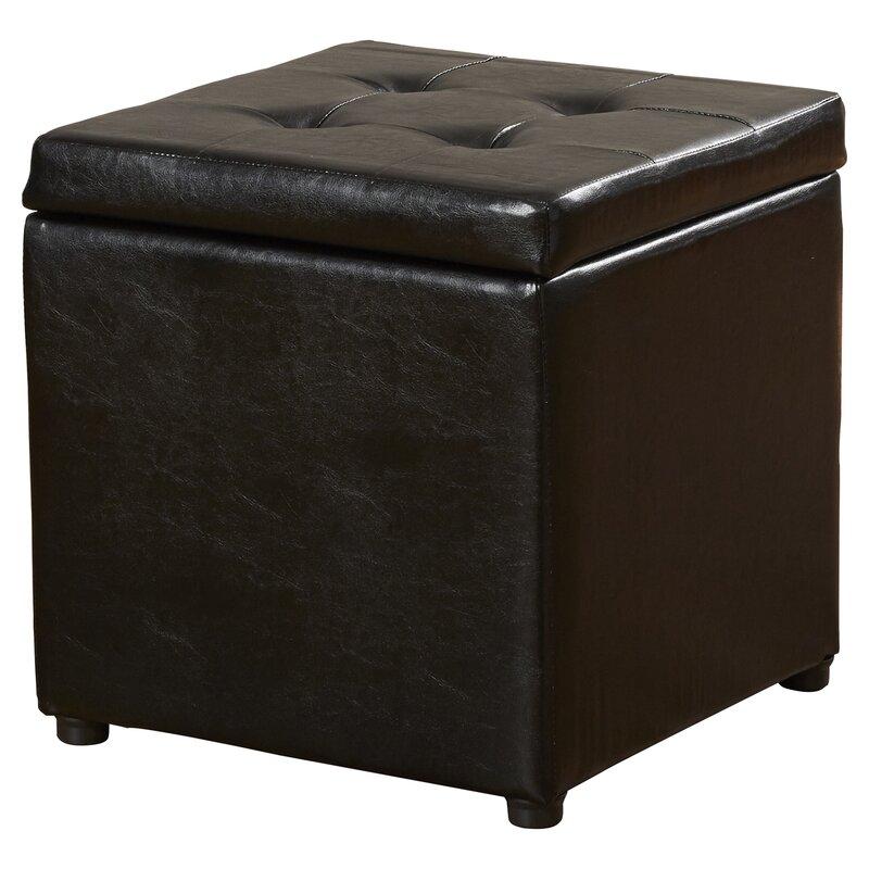 High Quality Donaldson Upholstered Storage Cube Ottoman