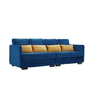Rische 2 Piece Convertible Couch in Navy Blue