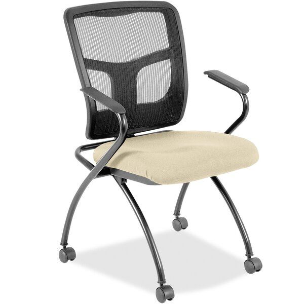 Fabric Padded Folding Chair by Lorell