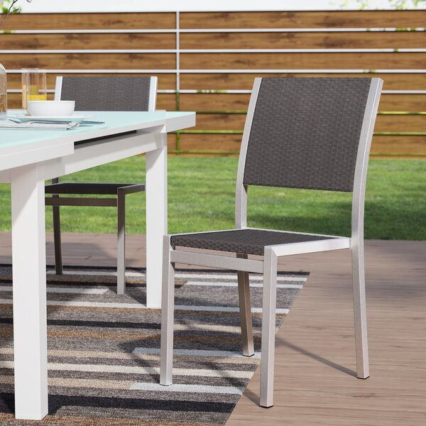 Lehman Stacking Patio Dining Chair (Set of 2) by Mercury Row