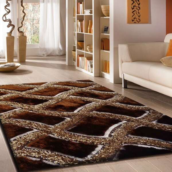 Roselli Hand Tufted Brown Area Rug by Latitude Run